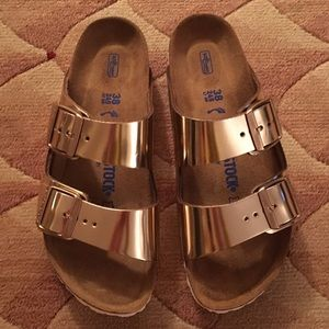Metallic Birkenstock brand new 38 gold